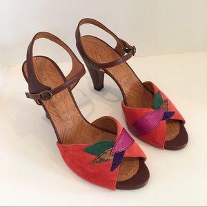 Chie Mihara Colorful Suede Made in Spain Heels